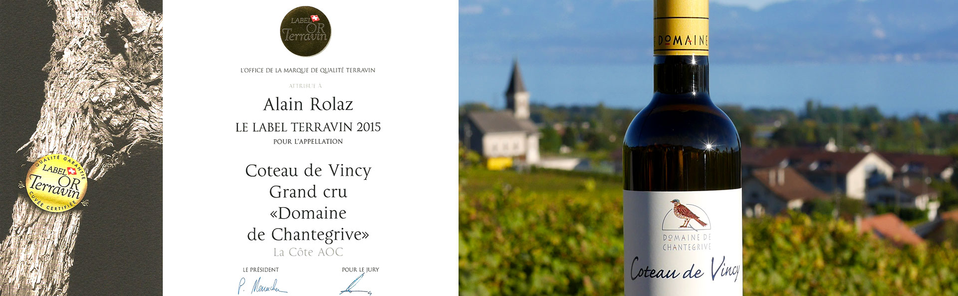 Coteau de Vincy Label Terravin 2015 Domaine de Chantegrive