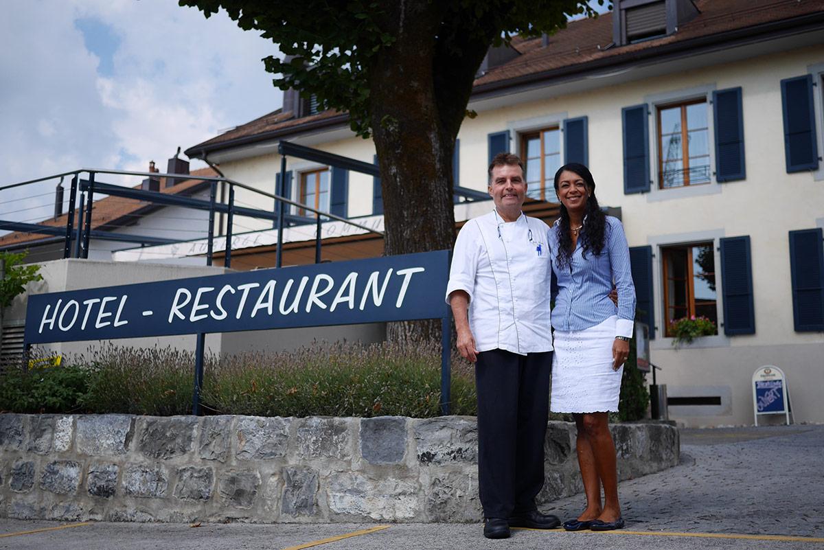 Repas Saveurs Automnales Auberge de Gilly - Domaine de Chantegrive Jean-Claude et Marisa Volery