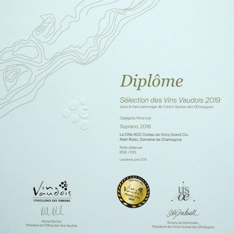 Soprano 2018 Or Chantegrive Sélection Vins Vaudois-2018