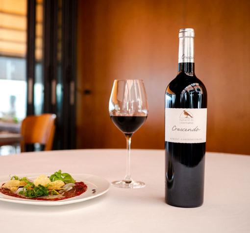 Merlot Cabernet Franc Crescendo Restaurant Domaine de Chantegrive